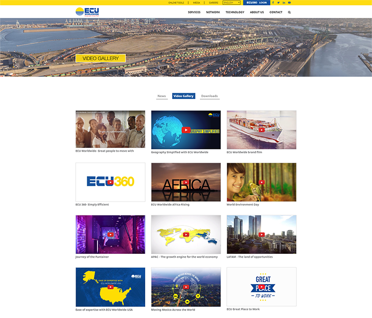 Ecu Worldwide Web Design Video Gallery Page