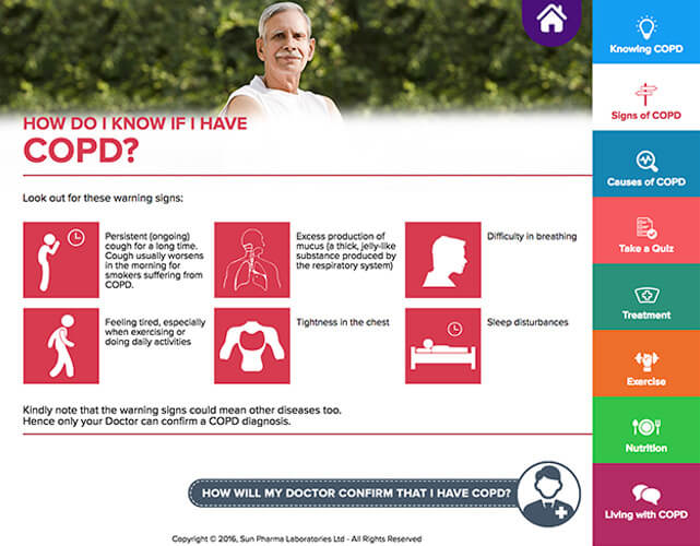Speak Health COPD App Screenshot 1