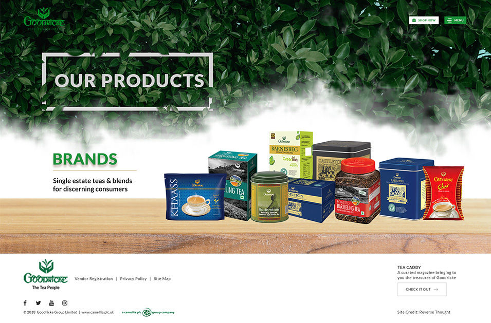 Goodricke Corporate Website Our Products Page