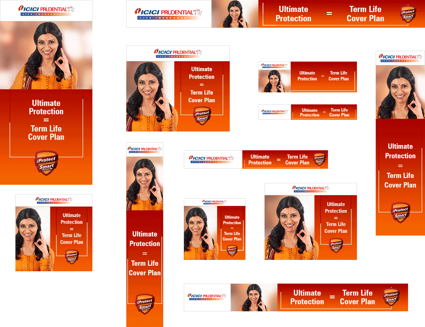 ICICI Pru iProtct Smart Campaign GDN Creatives Collage