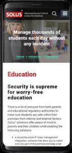Solus Website Responsive Design