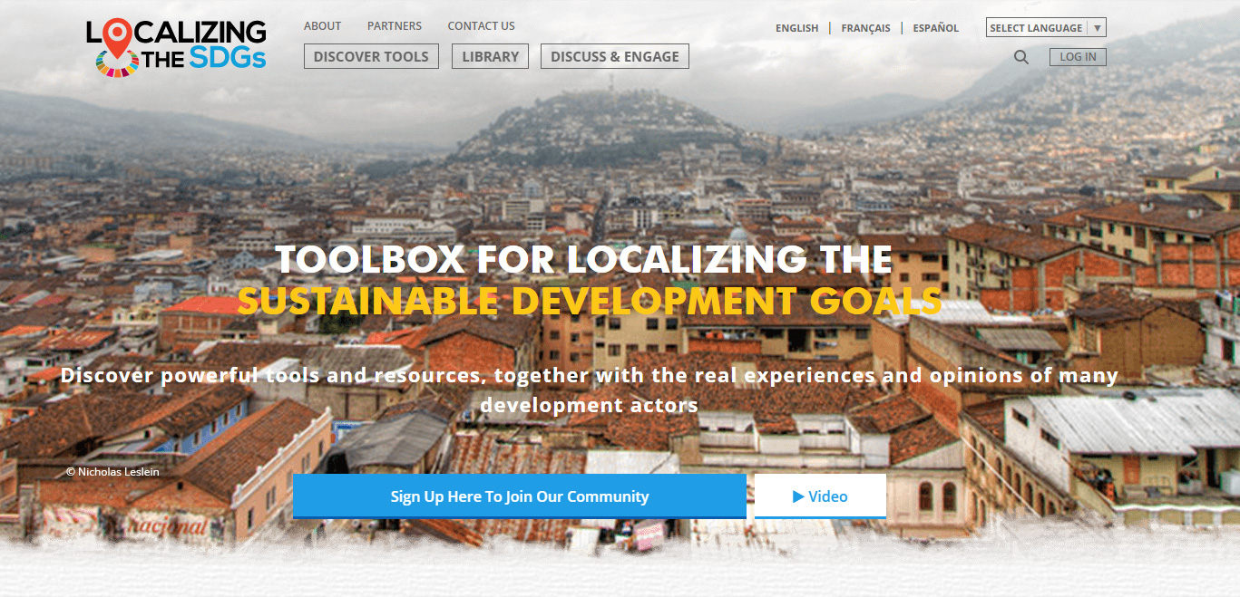 UNDP Website Design Home Page Banner