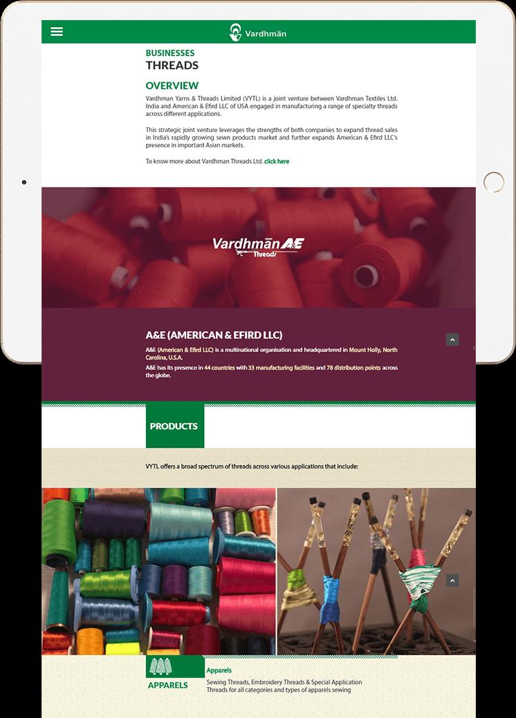 Vardhman Website Business Threads