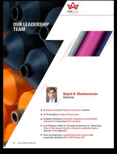 AYM Syntex Annual Report Leadership Team