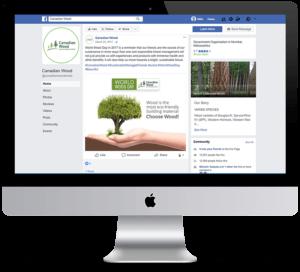Canadian Wood Facebook Design on iMac