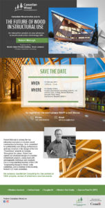 Canadian Wood The future of wood in structural use emailer design