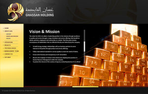 Ghassan Holding Website Screenshot 2