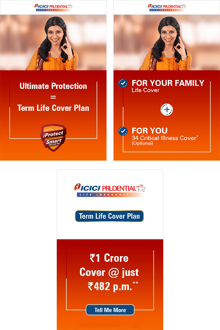 ICICI Prudential iProtect Smart Campaign GDN Creatives