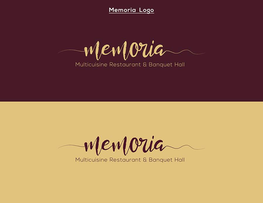 Memoria Multicuisine restaurant and banquet hall Logo