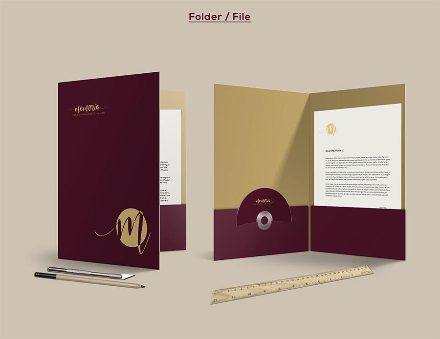 Memoria Restaurant Folder / File Design