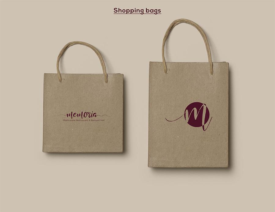Memoria Restaurant Shopping Bags
