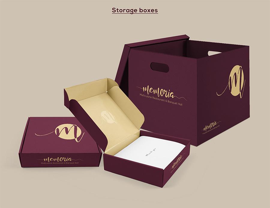 Memoria Restaurant Storage Boxes Design