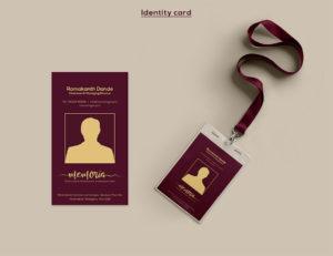 Memoria Restaurant Identity Card Design