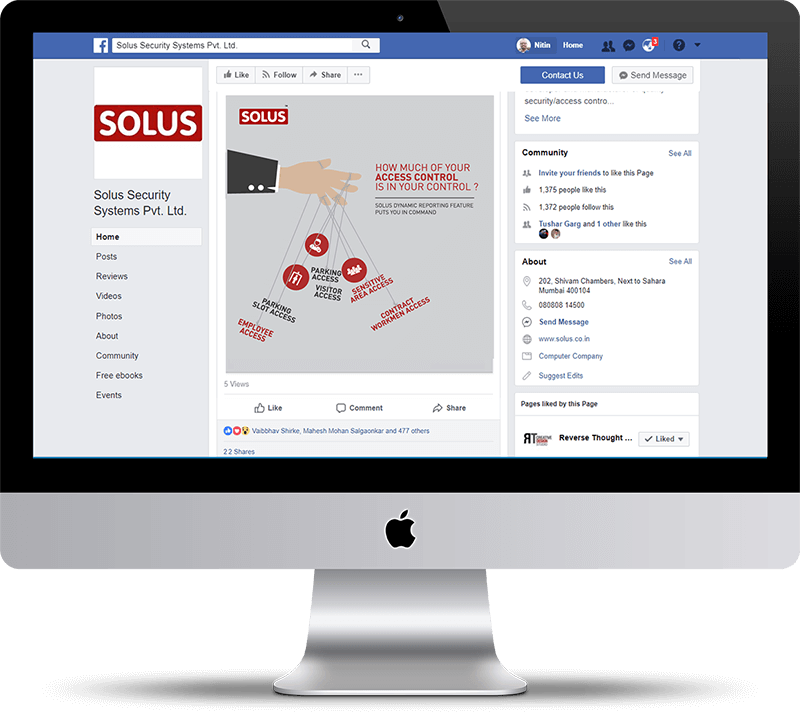 Solus Facebook Creative on iMac