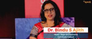 Speak Health Dr. Bindu Ajith addressing Glaucoma