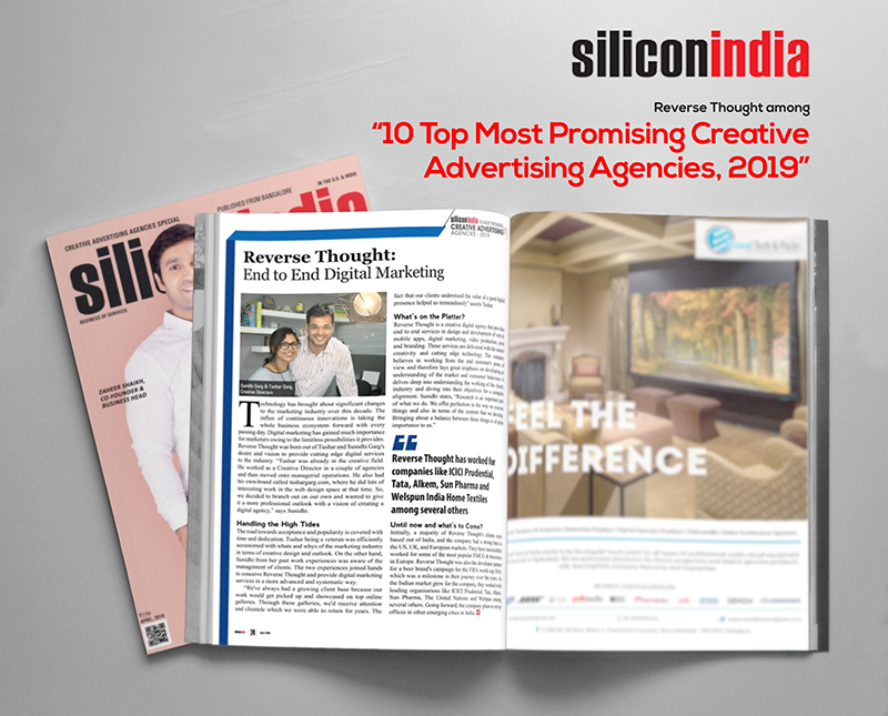Reverse Thought Among Silicon India's Top 10 Promising
